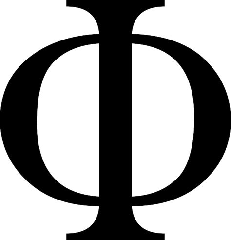 lettere fi image vectorielle gratuite phi lettre grecque alaphabet
