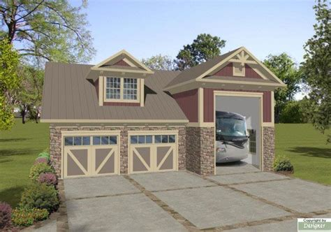 home plans with rv garage boat rv garage house plan 1753 home exterior pinterest