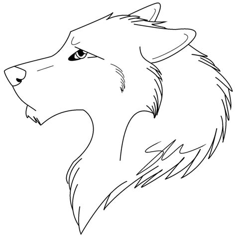 free wolf cartoon coloring pages