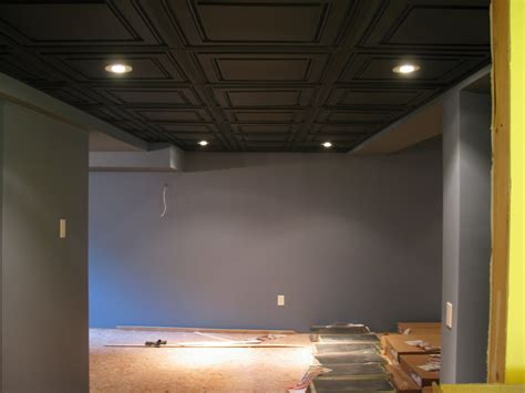 The Black Ceiling by Decorations Unfinished Basement Ideas On Plus
