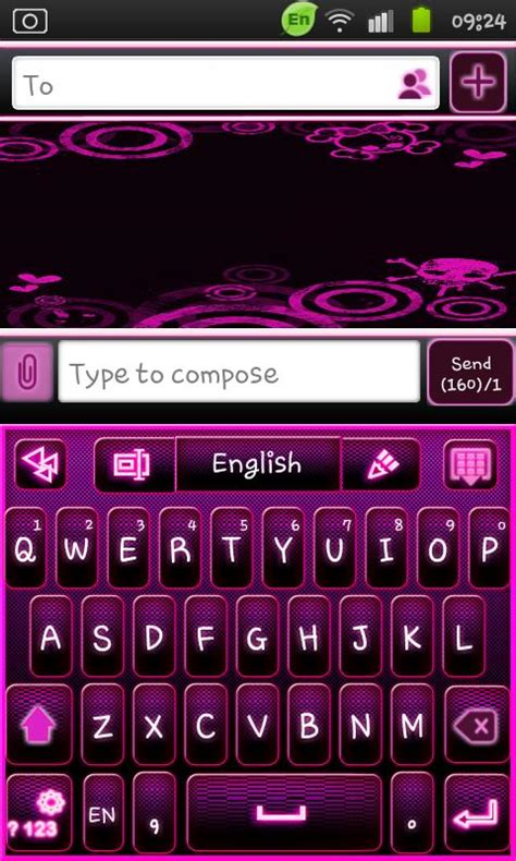 go keyboard themes white go keyboard emo punk theme 1mobile com