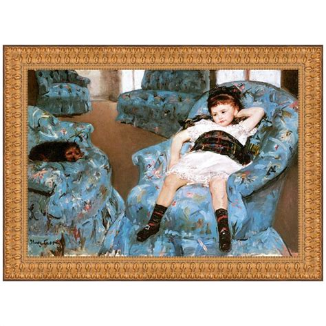 girl in a blue armchair little girl in a blue armchair 1878 canvas replica