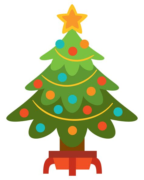 free simple but nice christmas tree clip art