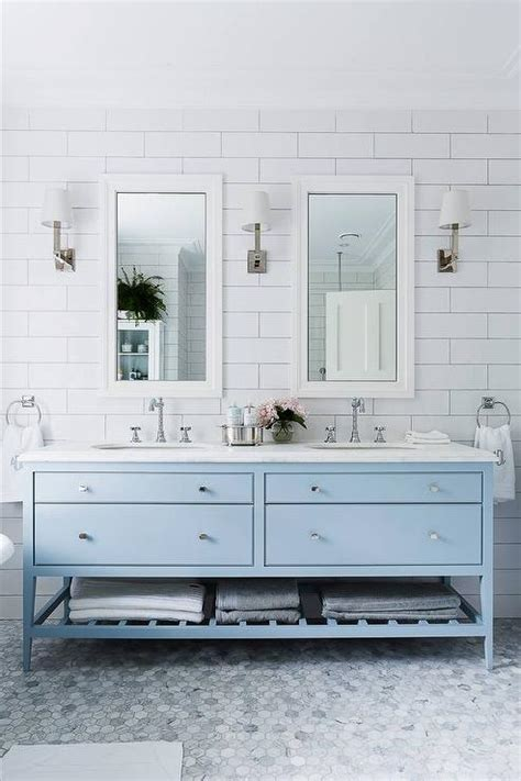 bathroom vanity blue sky blue bathroom vanity transitional bathroom