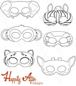 jungle animal mask templates free coloring pages of jungle animal masks