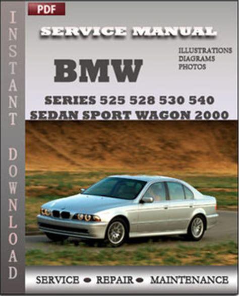 service and repair manuals 2000 bmw 5 series security system bmw 5 series 525 528 530 540 sedan sport wagon 2000 service manual download
