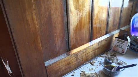 refinish wood paneling refinishing wood panelling with briwax