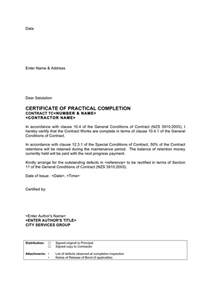 Practical Completion Certificate Template Jct by Practical Completion Certificate Template Epa Budget Cut