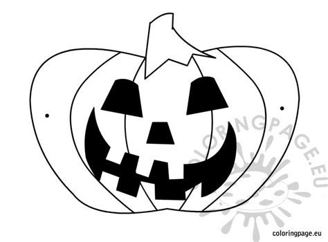 printable pumpkin mask printable pumpkin mask coloring page