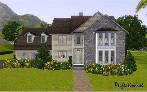 sims 3 5 bedroom house mod the sims 5 bedroom colonial style house ts3 remake