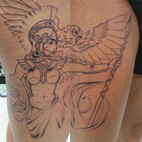 tattoo athena owl athena started yesterday on nathalyn athena tattoo