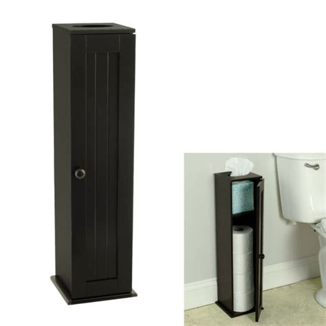 standing espresso toilet paper storage cabinet tower bathroom  sale
