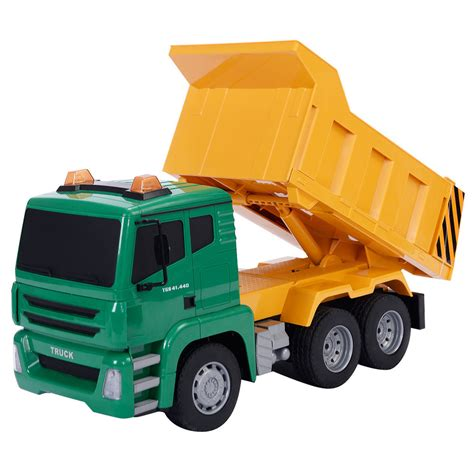 trucks kid 1 18 5ch remote rc construction dump truck
