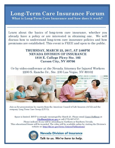 term care insurance nevada division of insurance