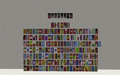 flags of the world minecraft heres my shot at the world flags using banners in