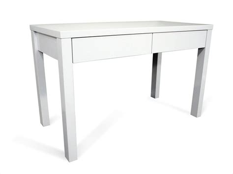 Matrix Study Office Desk High Gloss White Living Elements White Study Desk