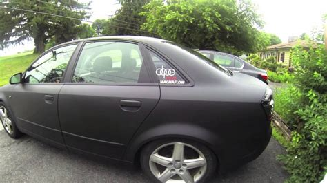 Audi A4 Matt Schwarz by Go Pro Matte Black Audi A4 720p Youtube