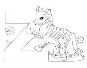 coloring z printable alphabet letter z worksheet for preschoolfree