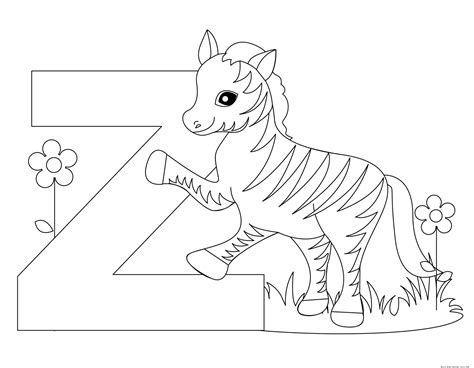 Free Z Coloring Pages printable alphabet letter z worksheet for preschoolfree