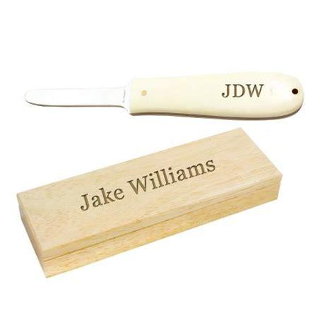 monogrammed oyster knife bone