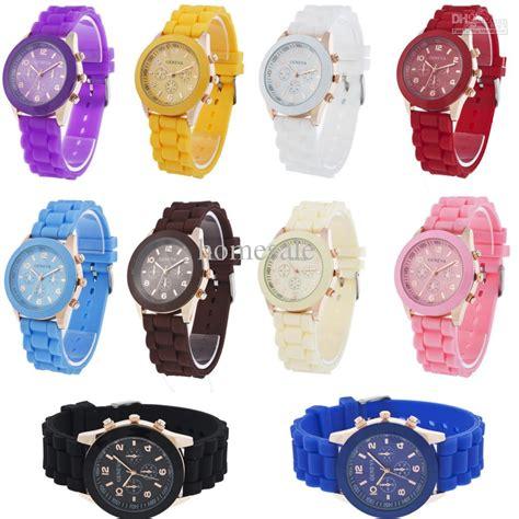 unisex luxury geneva womens silicone watches sport quartz
