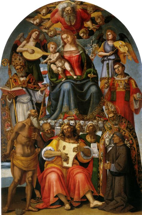 tavola centinata madonna and child with saints 1519 luca signorelli