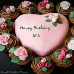pink birthday cake for mili