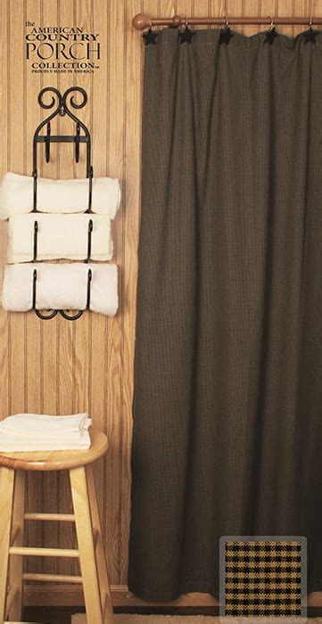 mini curtain new england black tea dyed mini check shower curtain