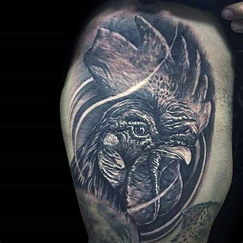 rooster tattoo designs men realistic rooster pictures to pin on