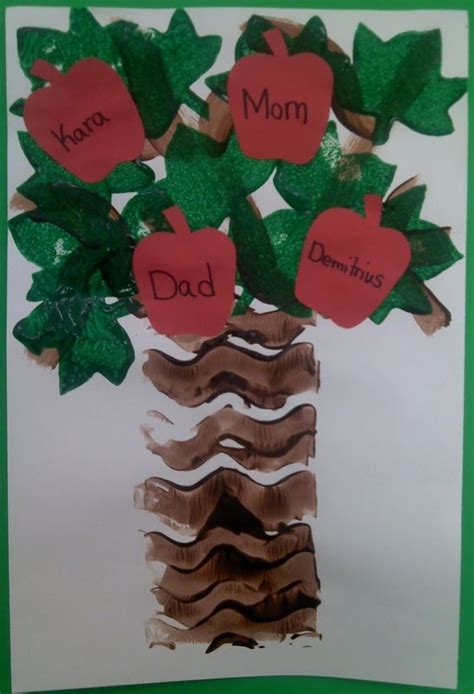 family tree crafts for apple family tree preschool