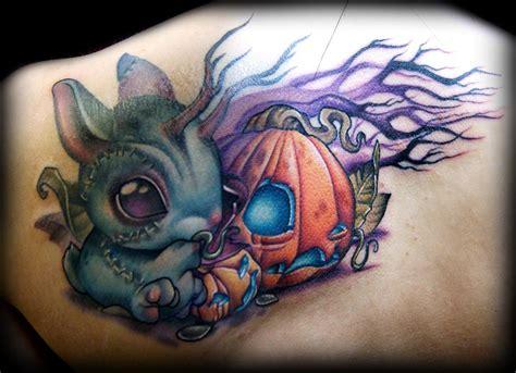 new school pumpkin tattoo zombie bunny vs pumpkin tattoo by kelly doty tattoonow