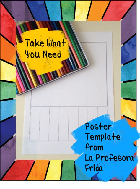 take what you need template la profesora frida the stress free take