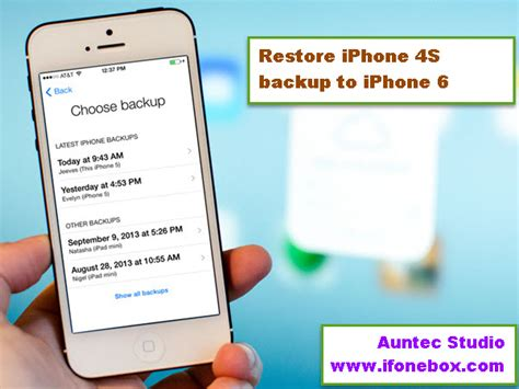 how to reset iphone to new restore an iphone 4s backup from my imac to new iphone 6