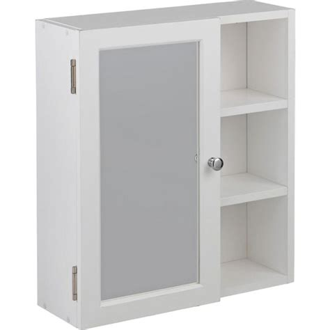 bathroom mirror argos buy home single mirror bathroom cabinet with shelves white at argos co uk your online shop