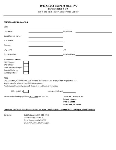 Golf Registration Form Template Free Free Golf Tournament Registration Form Template