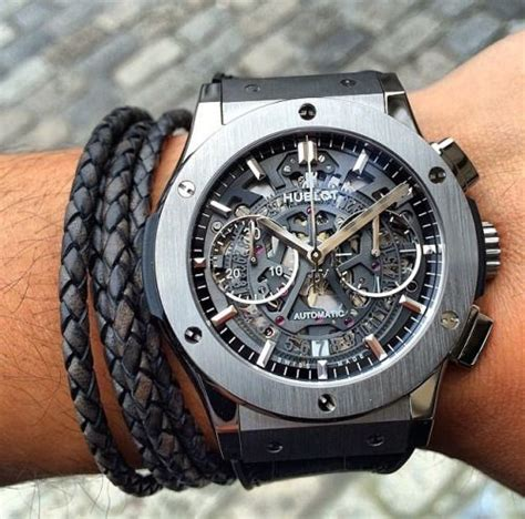Hublot Vendome Fusion Rosegold Grey skeletons classic and chronograph on