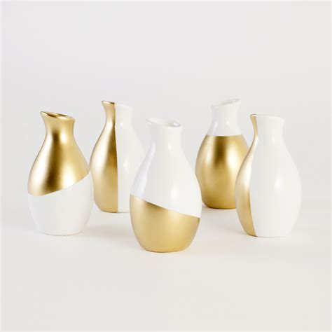Gold Dipped Vases gold dipped vases kit brit co shop creative