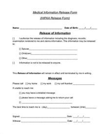 standard consent form template information release form 8 sle