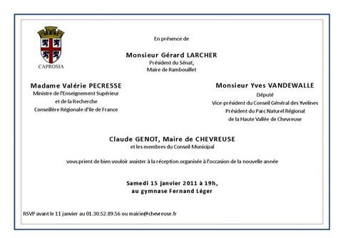 Exemple De Lettre D Invitation Pour Le Maire Modele Invitation Maire Document