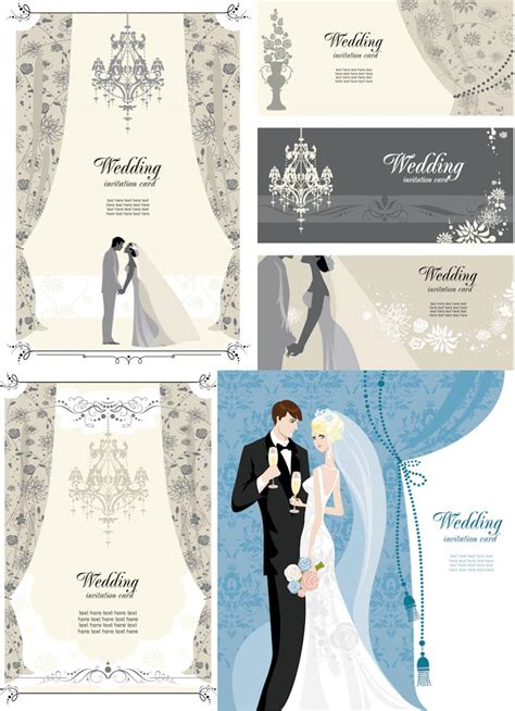 wedding card template cards vector graphics page 58
