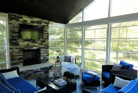 Fireplace Screens Columbus Ohio by Columbus Ohio Screen Porch With Fireplace Suncraft