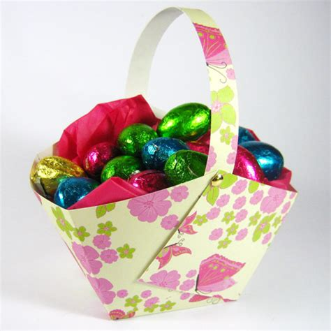 Make An Easter Basket From Paper - paper easter basket to make