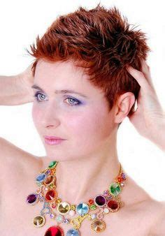 spiked hair styles with a 27 piece by dreamweaver style with very short spiky highlighted hair beautiful