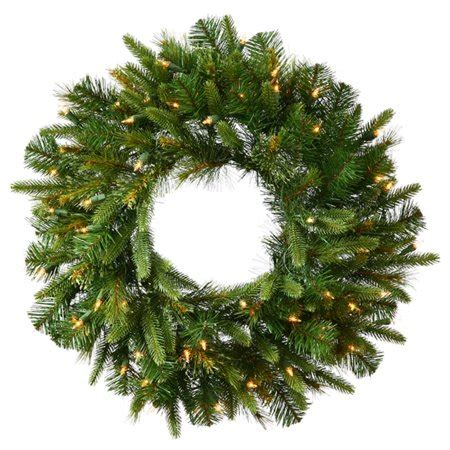 walmart pre lit wreath with battery and timer 30 quot pre lit battery operated mixed pine wreath clear lights walmart