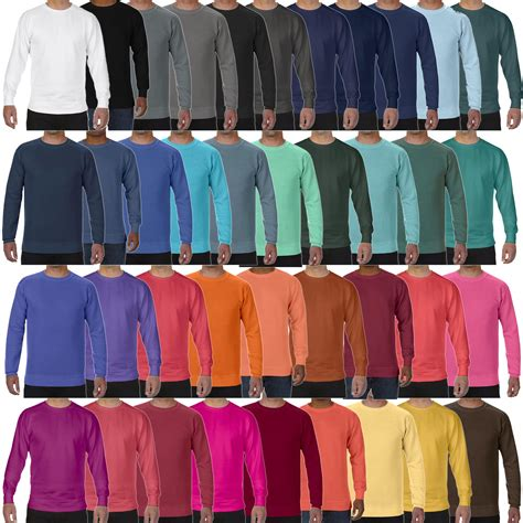 comfort colors crewneck sweatshirt comfort colors dickes herren crewneck sweatshirt warm