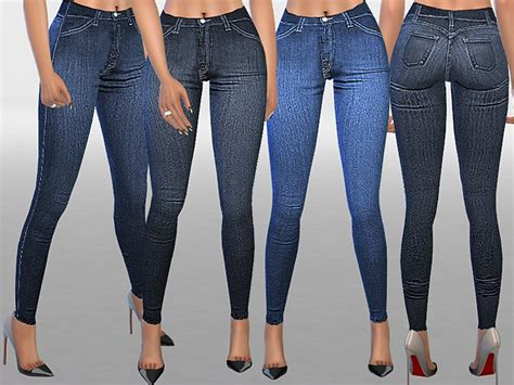 sims 4 jeans pinkzombiecupcakes indigo high waist skinny jeans