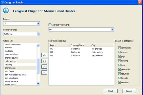 Craigslist Search Email Craigslist Plugin Atompark