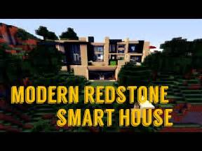 Hillside Home Designs modern redstone smart house minecraft project