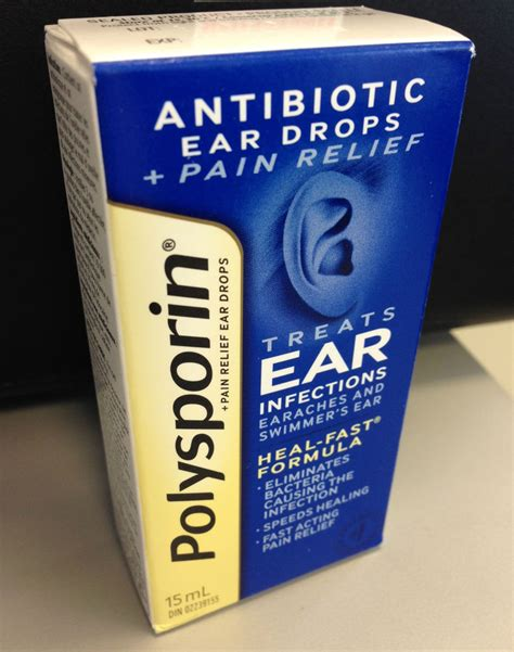 ear infection drops polysporin antibiotic ear drops relief for ear infections earaches 15ml ebay