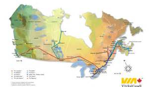 Canada Train Map by Impressum